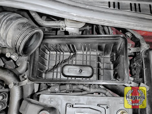 Illustration of step: Check the air filter box for debris - step 10
