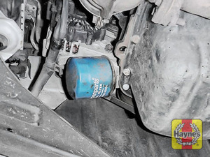 Illustration of step: The oil filter is located here - step 2