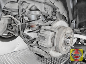 Illustration of step: Take a good look around brake system and the suspension arm, checking for any leaks - step 13