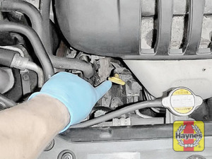 Illustration of step: Always replace the cap and dipstick securely - step 10