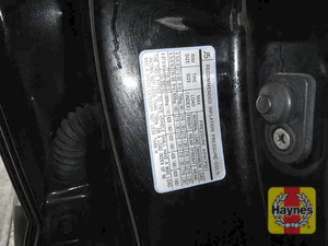 Illustration of step: Look for a sticker showing your vehicles tyre pressures located in the driver's door aperture - step 3