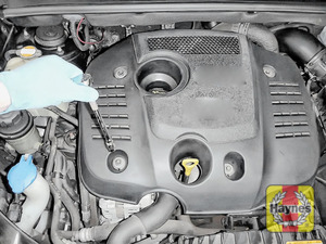 Illustration of step: You need to remove the engine cover - step 1
