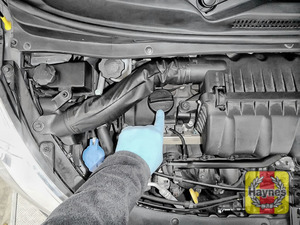 Illustration of step: If you need to top up, locate the oil filler cap - step 4
