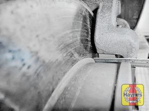 Illustration of step: Measure brake pad wear thickness - step 12