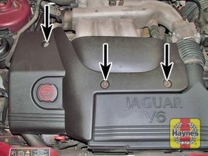 Illustration of step:  Engine top cover screws  - step 2