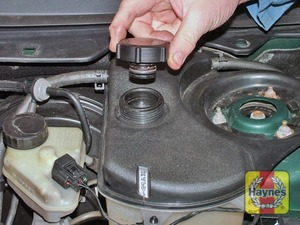 Illustration of step:  If topping-up is necessary, wait until the engine is cold - Car care - step 14
