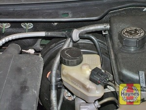 Illustration of step:  The brake fluid reservoir is located on the left-hand side of the engine compartment - Safety first! - step 25