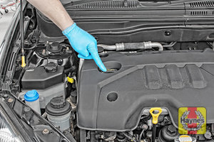 Illustration of step: If you need to top up, locate the oil filler cap - step 5