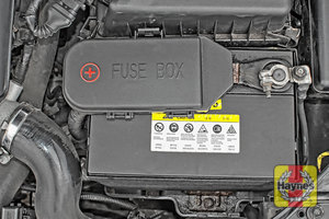 Illustration of step: Check the battery is generally secure, and if loose, tighten the battery retainer - step 5