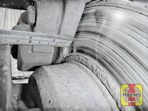 Illustration of step: Measure the brake pad wear thickness - step 12