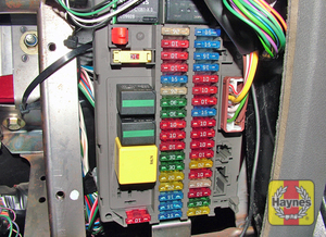 Illustration of step: Unclip the panel beneath the steering column to access the main fusebox - step 1