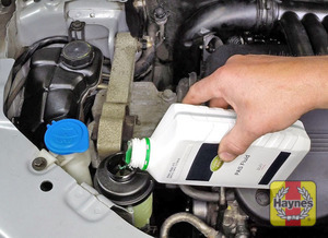 Illustration of step:  Only top up using the specified type of fluid  - Power steering fluid - step 52