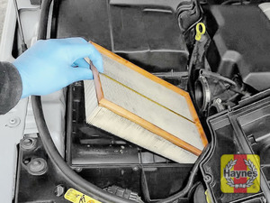 Illustration of step:  Lift out the air filter for inspection - step 8