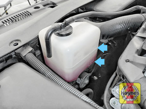 Illustration of step: Look for the MAX-MIN position on the side of the coolant reservoir - step 2