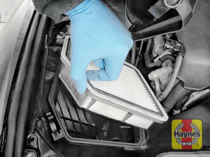 Illustration of step:  Lift out the air filter - step 10