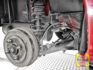 Illustration of step: Get a garage to check the rear drum brakes if the front pads need to be replaced - step 10