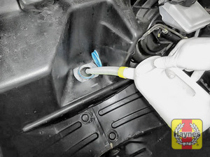 Illustration of step: Top up with screen wash - step 3