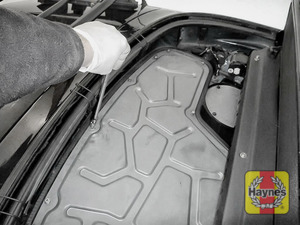 Illustration of step: You will need to remove the engine cover - undo the fixings using a 10mm socket - step 1