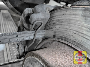 Illustration of step: Measure brake pad wear thickness - step 11