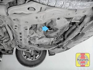Illustration of step: The sump plug is located on the base of the engine - step 3