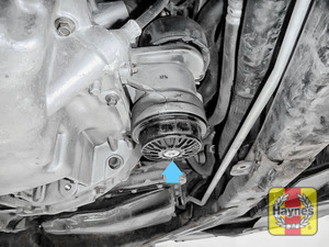 Illustration of step: You'll find the oil filter here - step 1