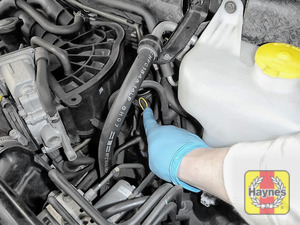 Illustration of step: Do not forget to replace the dipstick and oil filler cap securely - step 10