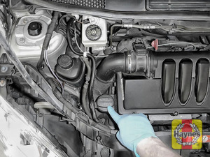 Illustration of step: Locate the oil filler cap and turn anticlockwise to open - step 4