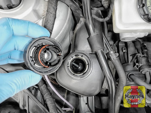 Illustration of step: ONLY WHEN COLD - Slowly turn the coolant reservoir cap one turn anti-clockwise to allow any pressure to escape - step 2