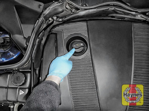Illustration of step: The oil level is electronic - see your car's manual for details - step 1