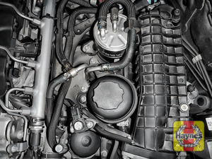 Illustration of step: When finished, always replace the cap securely - replace the engine cover - step 5