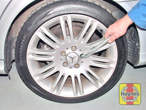 Illustration of step:  Undo the bolts and remove the wheel  - step 15