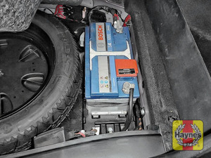 Illustration of step: Locate the battery - it's in the boot - step 1