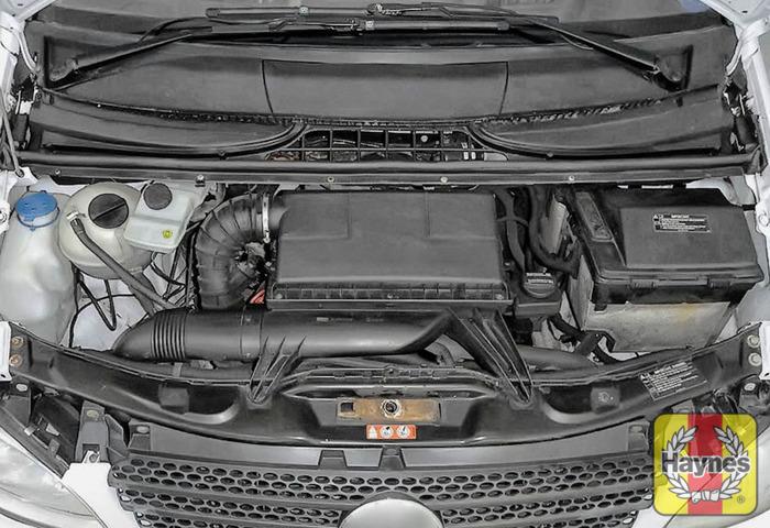 mercedes benz vito 2003 2017 2 1 cdi opening the bonnet rh haynes com mercedes vito manual book mercedes vito manual transmission