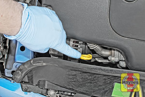 Illustration of step: Don't forget to replace the dipstick and oil filler cap securely - step 11