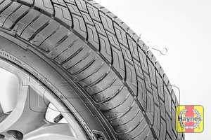 Illustration of step: Before refitting the wheels, take a look at the tyre tread, there is a UK legal requirement to have a minimum of 1 - step 14