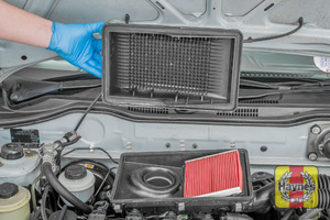 Illustration of step: The air filter in position - step 5