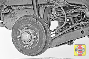 Illustration of step: Take a good look around the brake system and suspension arm, checking for any leaks - step 10
