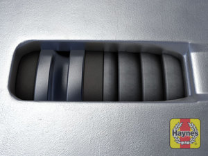Illustration of step: TIP! Virtually all cars have this inspection window in the brake caliper body, and you can usually see the brake pad thickness from here - step 13