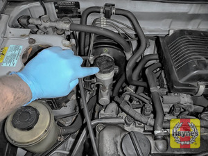 Illustration of step: Locate the brake fluid reservoir - step 1
