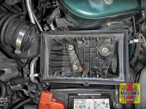 Illustration of step: Check the air filter box for debris - step 11