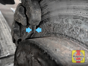 Illustration of step: Locate the rear brake pads - step 10