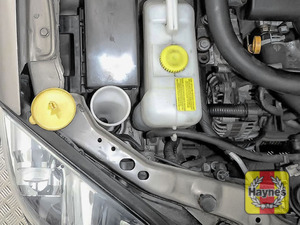 Illustration of step: Open the screen wash filler cap - step 2