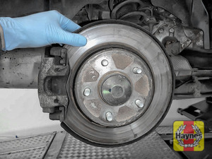 Illustration of step: Check the condition of the rear brake discs - step 9