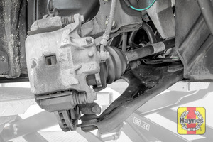Illustration of step: Now quickly check all the brake pipes for condition, check for any leaks, also inspect the rubber gaitors for integrity - step 7