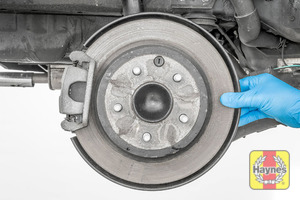 Illustration of step: Check the condition of the rear brake discs and locate the rear brake pads - step 9