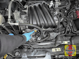 Illustration of step: Locate the engine oil dipstick - step 2