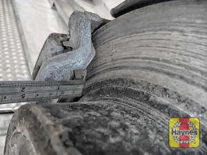 Illustration of step: Measure the brake pad wear thickness - step 11