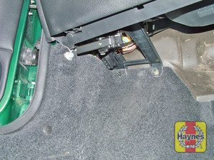 Illustration of step: The 16-pin connector is located under the facia on the passenger's side - step 2