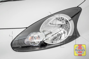 Illustration of step: Check the front lights: main, dipped beam and indicators - step 2