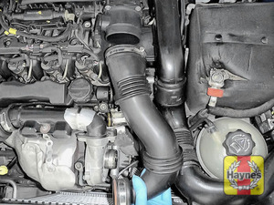 Illustration of step: Release and remove the air intake - step 5